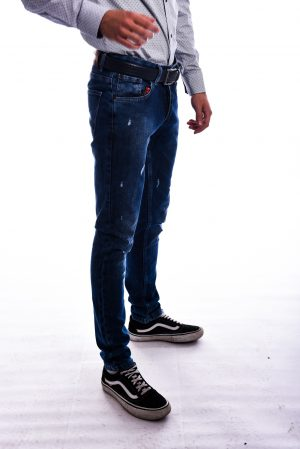 Slim Fit Farmerice - Teget