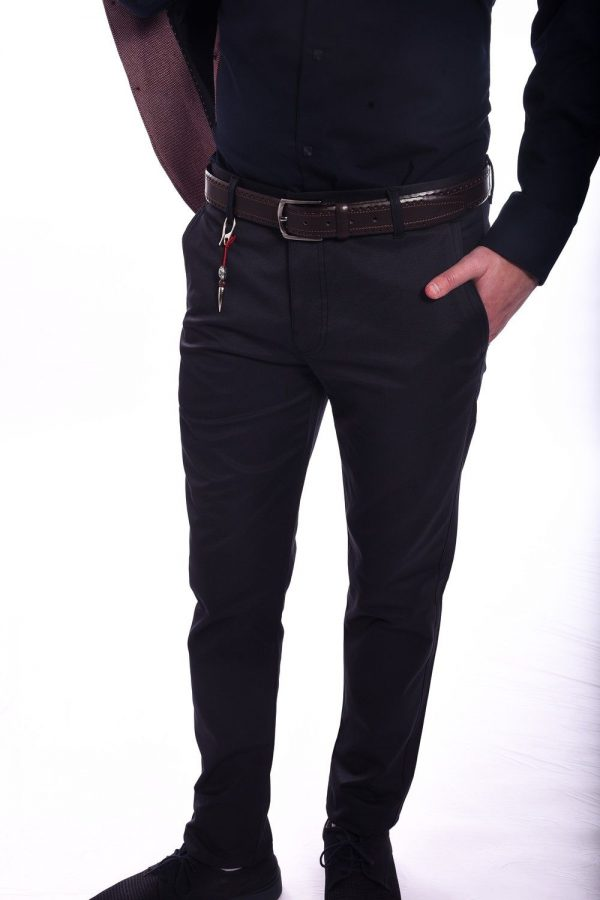 MušKe Slim Fit Crne Pantalone