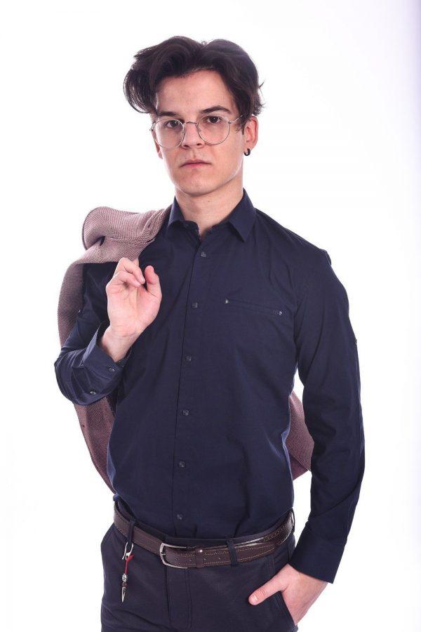 Basic Slim Fit Teget Košulja