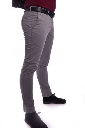 Muške Slim Fit Svetlo Sive Pantalone